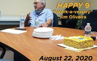 "Happy ""Work -a-versary"" Jim Oliveira!"