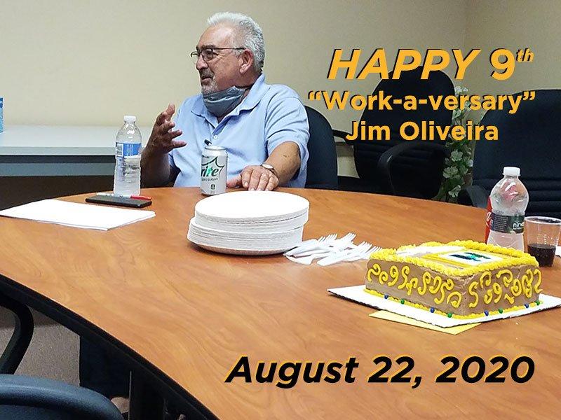 "Happy ""Work -a-versary"" Jim Oliveira!"