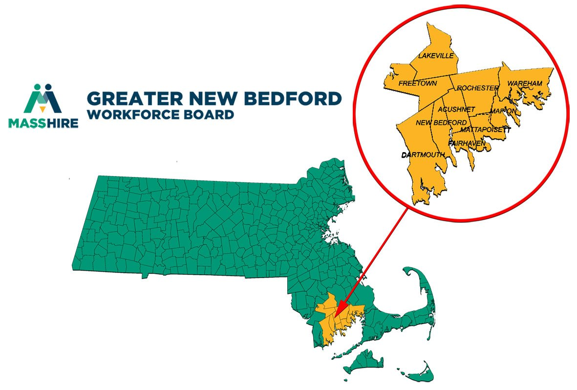 MassHire Greater New Bedford Workforce Board Service area