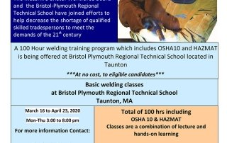 MassHire Bristol Workforce Board Welding Training