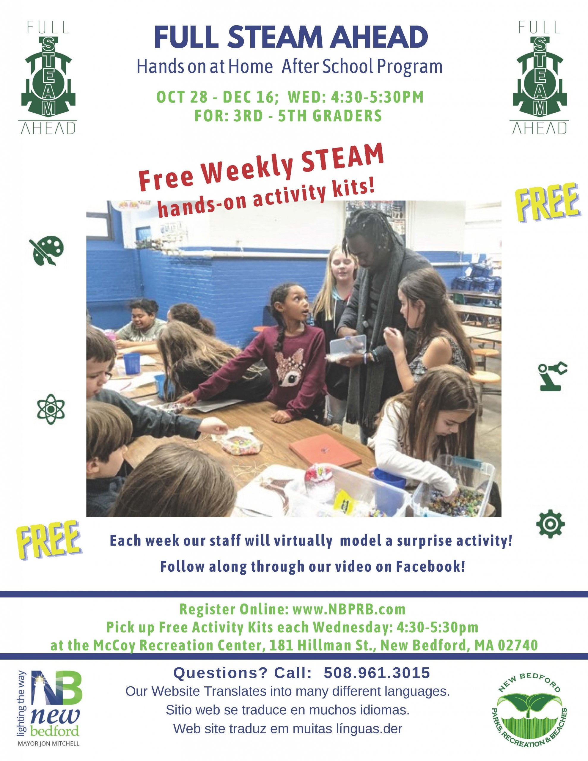 FULL STEAM AHEAD Hands on at Home After School Program