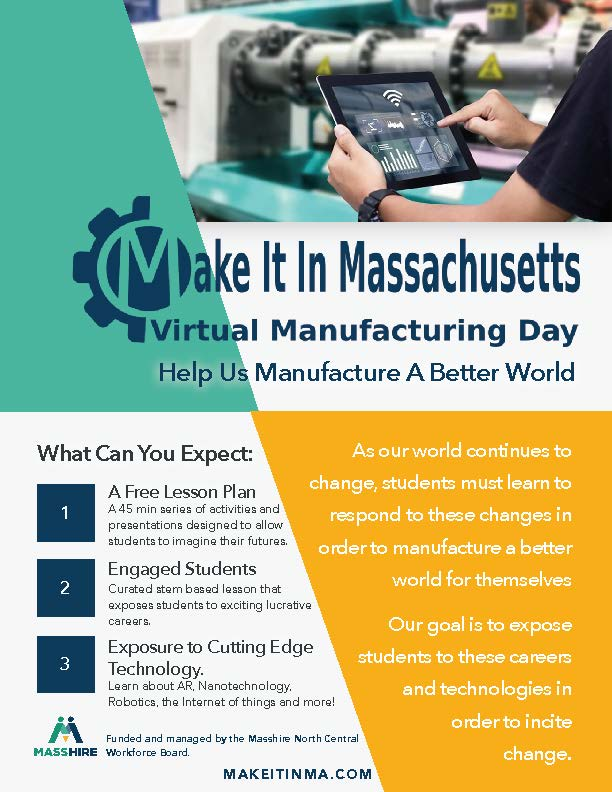 MAKE IT IN MASSACHUSETTS Manufacturing Day