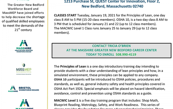 MACWIC Level 1 + OSHA 10 + Principles of Lean FREE TRAINING PROGRAM