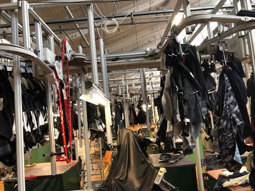 Image of garment manufacturing facility.