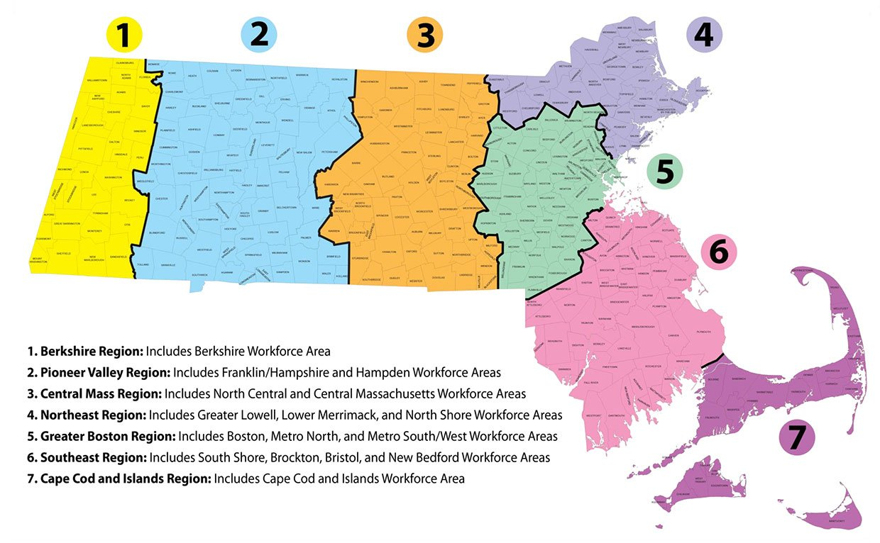 7 MassHire Super Workforce Regions