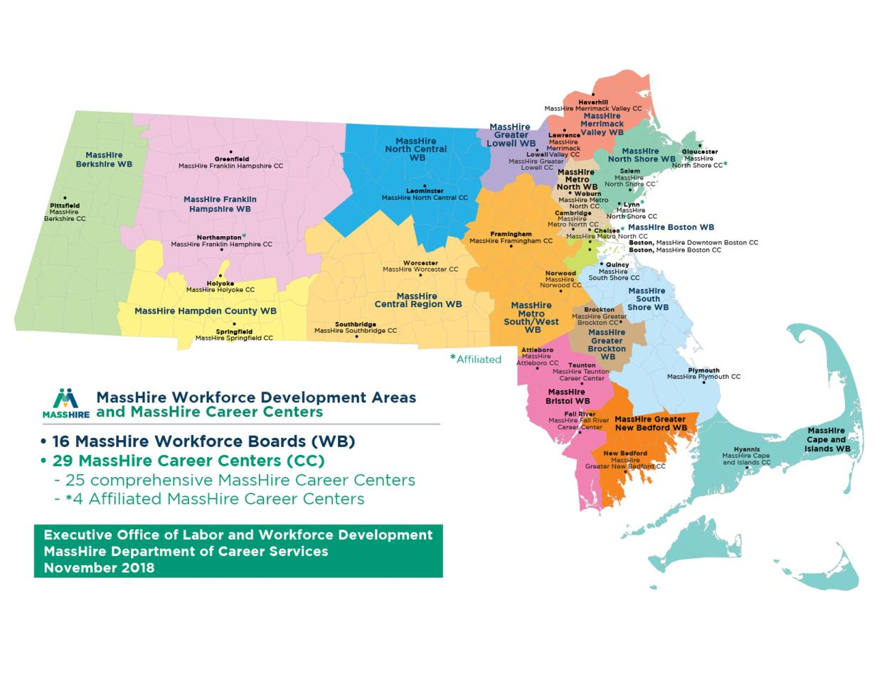 Massachusetts MassHire Workforce Board and MassHire Career Centers